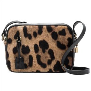 J Crew Signet Leopard-printed Crossbody Bag